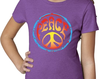 Psychedelic Peace Girls Tee T-Shirt PSYCHEDELIC-3712