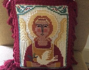 Needlepoint Angel Pillow