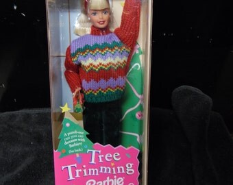 Tree Trimming Barbie Doll