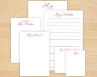 Personalized Memo Pad Set