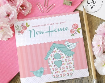 New Home - blank greetings card - bright & colourful stationery designed by Claire Wilson Designs, printed in the UK