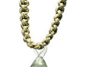 Handmade Locking Style Pendant Hemp Necklace