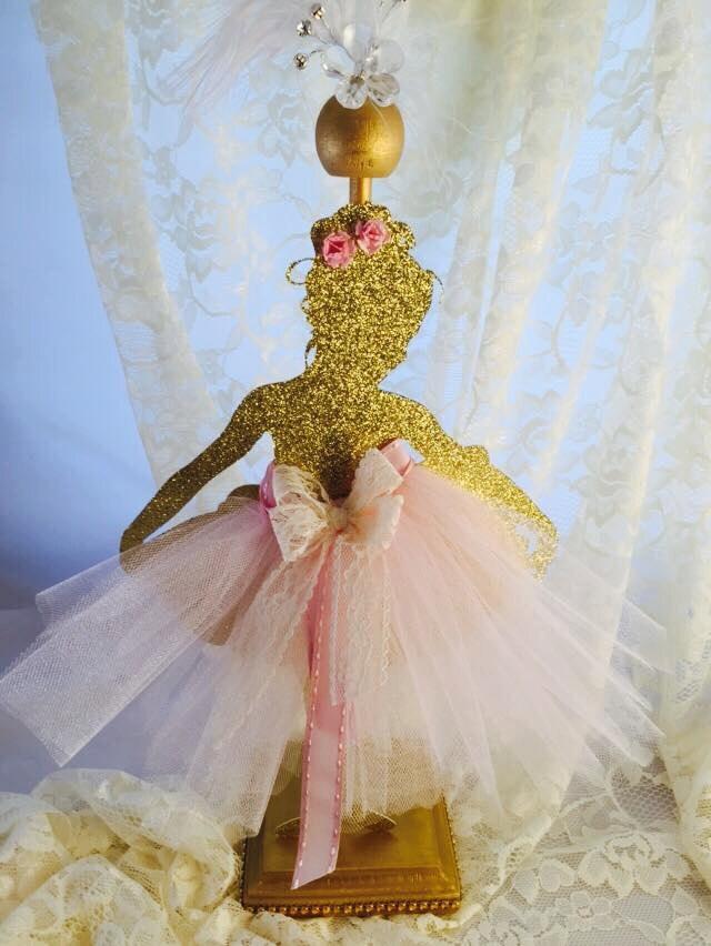 Ballerina party ballerina centerpiece ballerina party for Ballerina party decoration