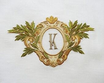 Machine Embroidery Design – Vintage Monogram Blank