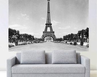 Paris Eiffel Tower Wall Mural Decal Sticker, Paris Large Wall Art Design  Wallpaper Living Room Part 52