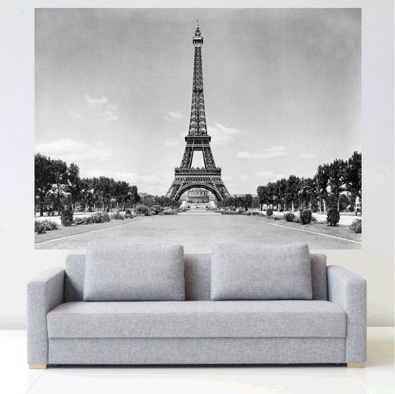 Paris Eiffel Tower Wall Mural Decal by PrimeDecal
