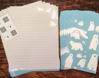Japanese Polar Bear Stationery Set