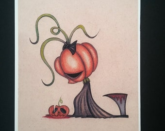 Sad Pumpkin - Limited edition Fine art giclee print