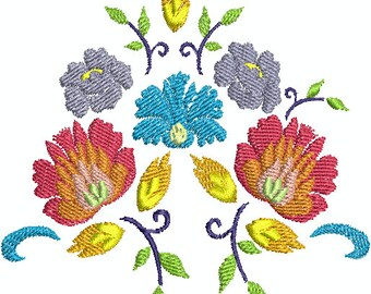 Flowers - Digital embroidery Design