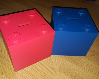 lego block style moneybox