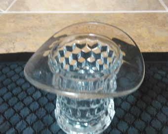 Vintage Fostoria Crystal Top Hat Planter