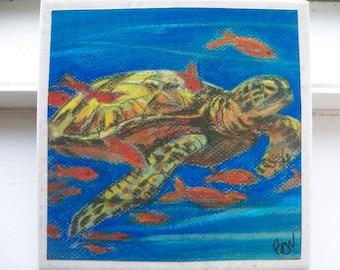 Sea Turtle - NoZoo Art Tile