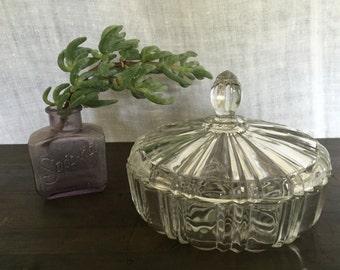 Decorative glass lidded bowl/candy dish