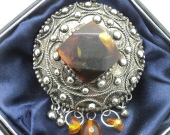Vintage Great Baltic Amber Pendant Soviet Union 1960