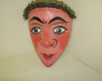 Pink-Faced Pensive Mask