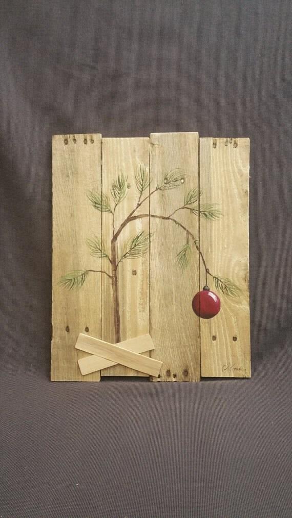 Charlie brown christmas tree hand panted