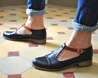 Jane Womens Mary Janes Leather Mary Jane Vintage By