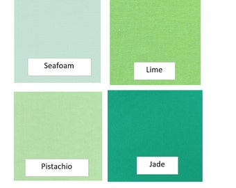 SOLIDS/GREENS - Fabric Options for Your Applique