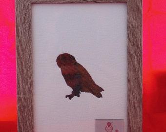 Harris Tweed Owl Picture (free P&P)