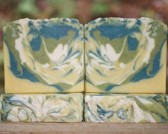 Soap, Handmade Soap, Lemon Verbena Soap, Goat Milk Soap, Shea Butter, Oatmeal