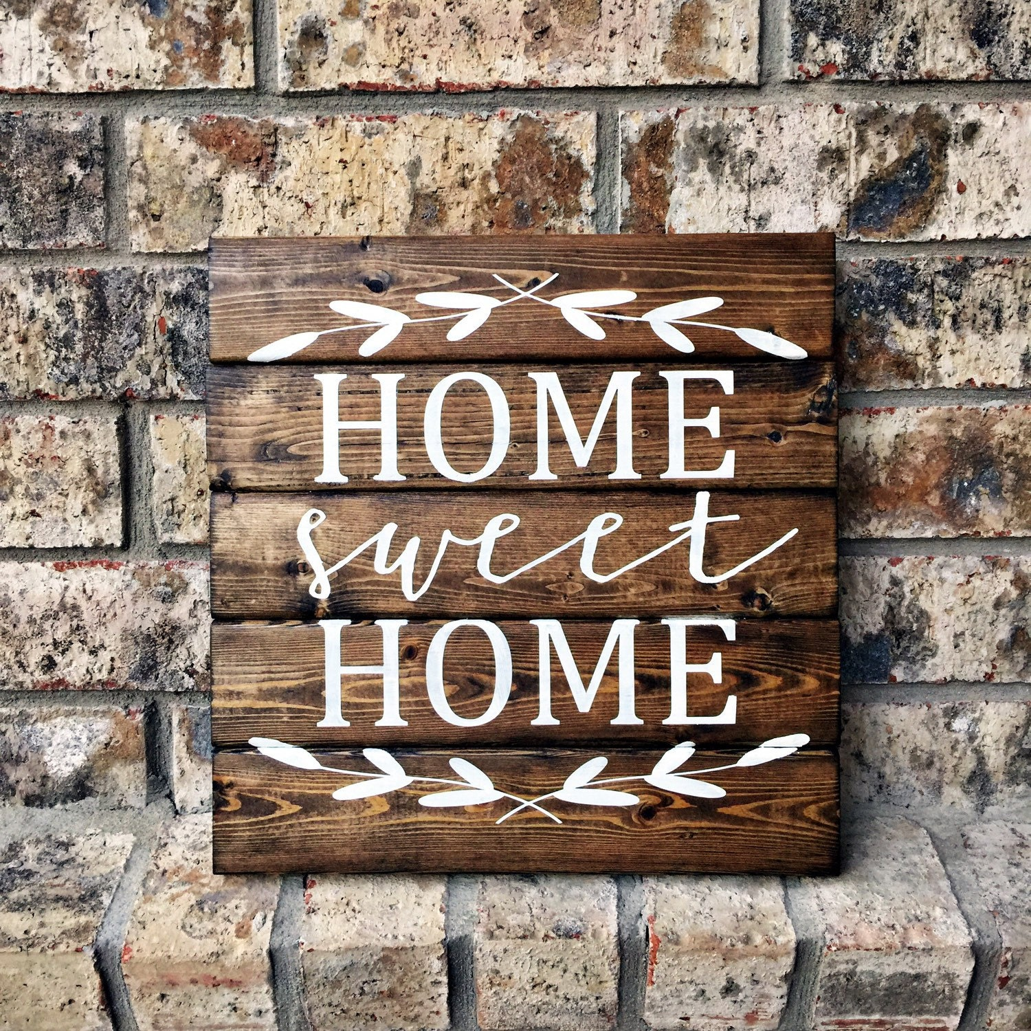 Happiness Is Homemade Handpainted Sign Handmade 12x12 Wall: Home Sweet Home 12x12 Personalized Wood Sign Home Sweet
