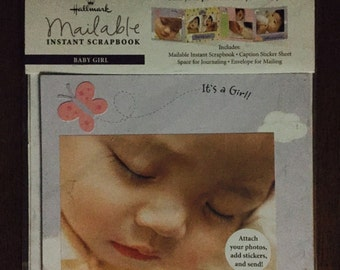 Mailable Hallmark Scrapbook baby girl