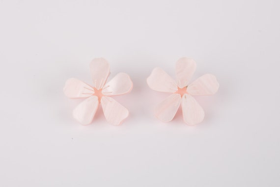 Cherry Blossom Acrylic Earrings