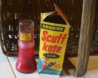 Vintage Esquire Scuff Kote Liquid Shoe Polish