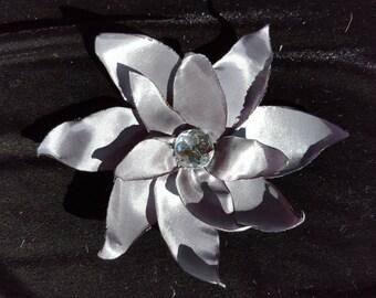 Gray Flower Hair Clip