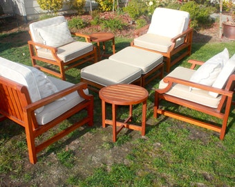 High Quality Deep Seating Teak Wood Conversation Set With Cushions, Patio  Set, Made By