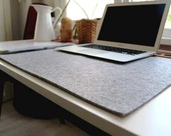Felt Deskpad Organizer for your study or office desk (Grey Color), table organizer,desk organizer,pc organizer (Express Shipping)