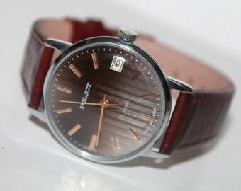 POLJOT.Mechanical watch Poljot-Soviet Era.Elegant gent's watch Poljot 1980-1990s.Perfect Condition!!!