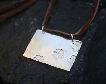 Dog lover jewelry Dog paw necklace, Silver dog necklace Paw print necklace jewelry Animal lover gift Dog lover necklace Paw jewelry