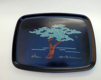 COLLECTIBLE CLASSIC COURAC Tray featuring iconic Monterey Cypress
