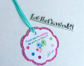 Candyland Thank you tags- Candyland party favor thank you tags- thank you tags for bags- thank you tags for box