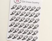 I26 || 36 Cross Country Icon Stickers