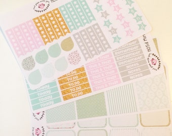 H05 || Mint and Gold Horizontal Planner Kit