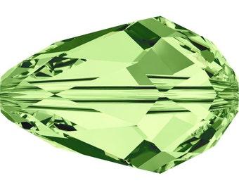 Swarovski Crystal Teardrop Beads 5500 - 9x6mm - 10 pcs - Peridot