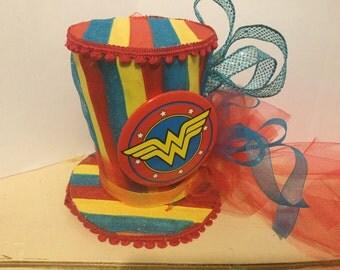 Wonder Woman Top Hat Fascinator
