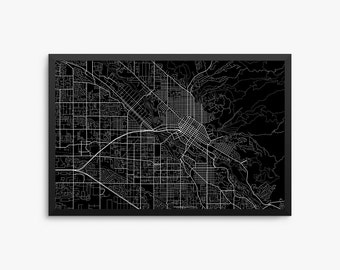 Boise City Street Map, Boise Idaho USA, Modern Art Print, Office Decor, Idaho Decor, Boise Decor, Boise Map, Boise Poster, Boise Gift Idea