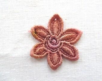 Flower Applique Six Petal Hand-dyed Venise Lace 6007D