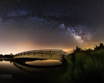 Celestial Span - Milky Way Panorama, Night sky New Jersey Print, New Jersey Photo, New Jersey Photograph, New Jersey Poster, New Jersey Gift