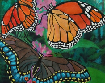 monarch butterfly floor cloth