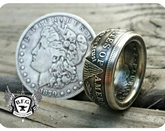 Coin Ring Jewelry -  U.S. Morgan Silver Dollar
