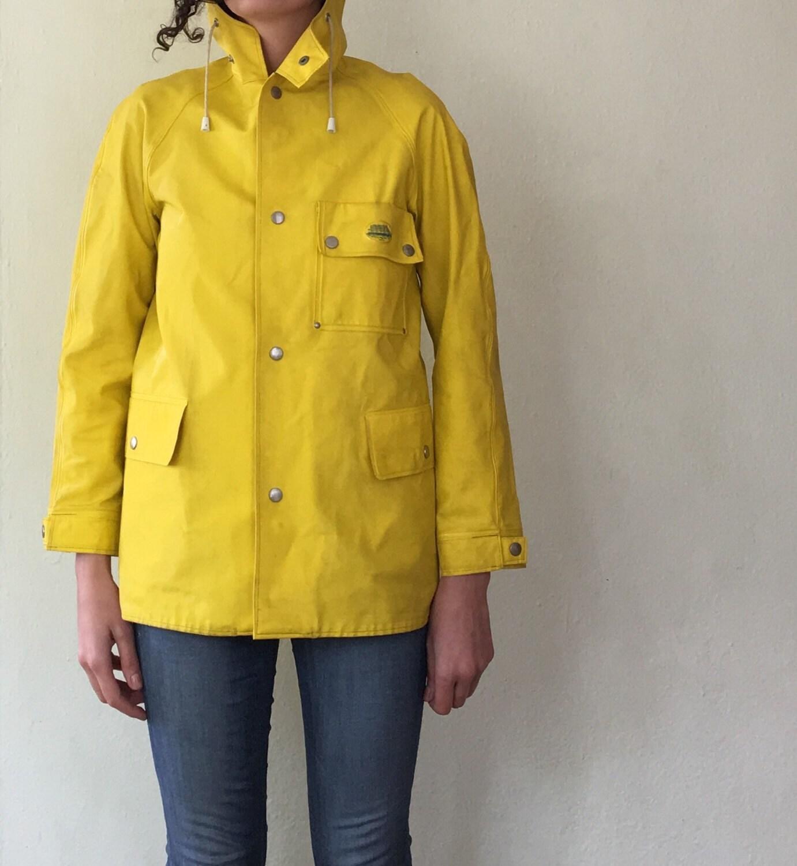 Vintage Yellow Raincoat Swedish Raincoat Grundens Vintage