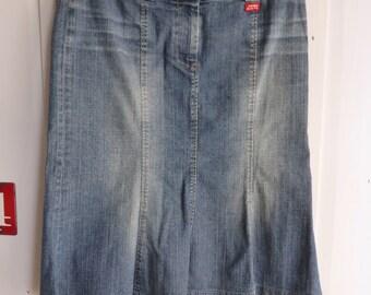 Vintage Miss Sixty stretch denim skirt size Medium UK 10