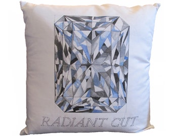Radiant Cut Diamond Pillow
