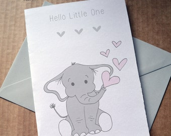 Hello Little One, New Baby Card, Disney Baby Card, Dumbo Baby Card, Baby Boy, Baby Girl, New Arrival, Elephant Baby Card