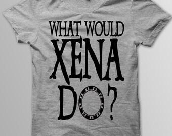 Xena Shirt, Xena Warrior Princess, WHAT WOULD XENA Do?, Xena Shirt, Dark Chakram of Light, Xena Warrior Princess Shirt, Gabrielle, Chakram