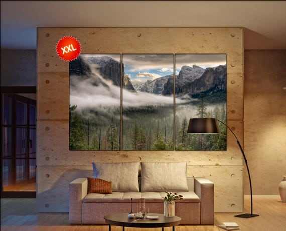 Yosemite Valley canvas wall art art  large  canvas wall art print Yosemite Valley Wall Home office decor interior Office Decor